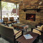 Comfortable outdoor back patio during Masters hospitality