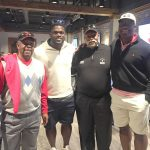 Golf legend Lee Elder(L) with Cincinnati Bengal Geno Atkins (L-center)